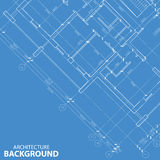 Blueprint best architecture model Royalty Free Stock Images
