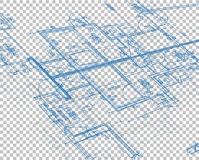 Blueprint blank layer background Stock Image
