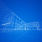 Blueprint on blue Stock Images