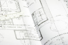Blueprint of a building 05 Stock Images