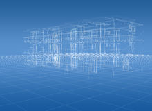 Blueprint building Royalty Free Stock Image