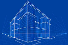 Blueprint of Building Royalty Free Stock Images