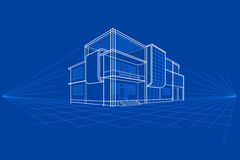 Blueprint of Building Royalty Free Stock Photo