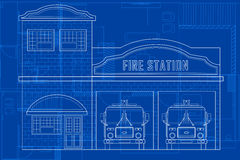Blueprint of Building Stock Photos