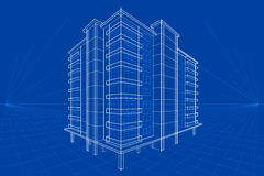 Blueprint of Building Stock Photography