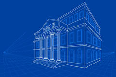 Blueprint of Building Royalty Free Stock Image