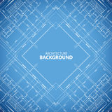 Blueprint building structure background Royalty Free Stock Photography