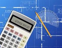 Blueprint Calculator Stock Photos