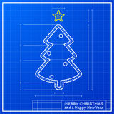 Blueprint Christmas Royalty Free Stock Photography