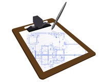 Blueprint Clipboard Stock Photo