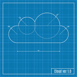 Blueprint of cloud. Stock Image