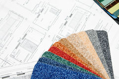 Blueprint and color swatch Royalty Free Stock Photo