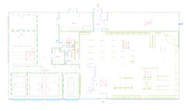 Blueprint of a commercial building made in CAD royalty free stock images