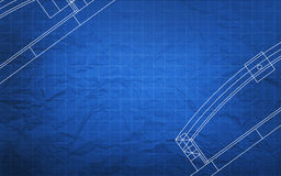 Blueprint Construction Plan Royalty Free Stock Photos