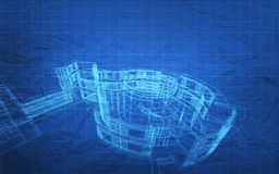 Blueprint Construction Plan Royalty Free Stock Images
