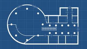 Blueprint construction round Stock Images