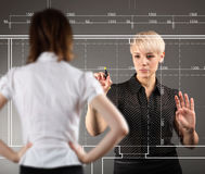 Blueprint design technical concept Stock Photos