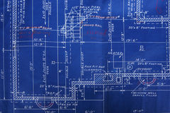 Blueprint detail stock photos