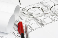 Blueprint details Royalty Free Stock Photo
