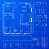 Blueprint elements Stock Photography