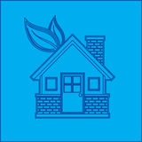 Blueprint of an environmental home Stock Image