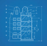 Blueprint facility. And  engineering printout home Stock Photography