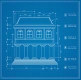 Blueprint. Facility and  engineering printout home Royalty Free Stock Photos
