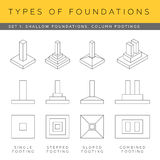 Blueprint foundations Stock Images