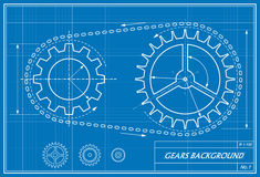 Blueprint of gears Royalty Free Stock Photo