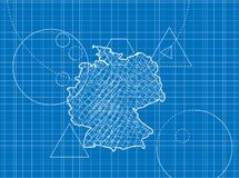 Blueprint of Germany maps Royalty Free Stock Photos
