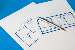 Blueprint for a home Stock Images