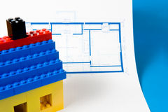 Blueprint for a home Royalty Free Stock Photos