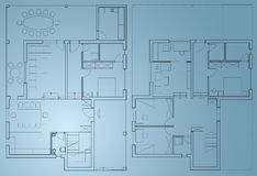Blueprint home plan. Blueprint of home on two levels Royalty Free Stock Photo