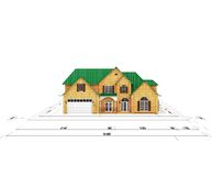 Blueprint home Stock Images