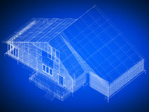 Blueprint house Royalty Free Stock Images