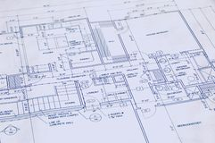 Blueprint of a house Royalty Free Stock Images