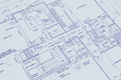 Blueprint of a house. In perspective royalty free stock photo