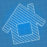 Blueprint house Royalty Free Stock Photos