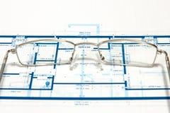Blueprint for a house Stock Photo