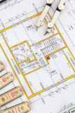 Blueprint for a house Royalty Free Stock Photos