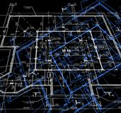 Blueprint abstract dark background. Vector Royalty Free Stock Images