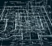 Blueprint abstract dark background. Vector Royalty Free Stock Photography