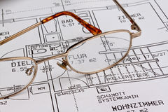Blueprint of a house. building construction Stock Photo