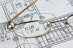 Blueprint of a house. Construction Stock Image