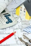 Blueprint of a house. construction Stock Images