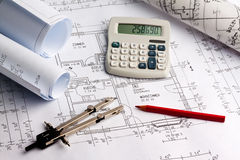 Blueprint of a house. construction Royalty Free Stock Image