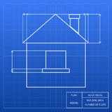 Blueprint of a house design Stock Images