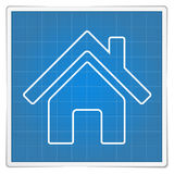 Blueprint House Icon Royalty Free Stock Photos