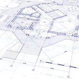 Blueprint house plan Royalty Free Stock Image