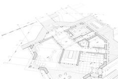 Blueprint house plan Royalty Free Stock Photos